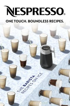 With the Nespresso Barista Recipe marker, whip up café quality drinks from an iced frappe to an espresso macchiato.  One touch. Boundless Recipes.