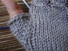Marisa Almeida Tricot Crochet   Luva Tricot Sem Dedos Laço Mágico 7c75e977f6b