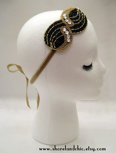 Art deco hairpiece Great Gatsby party prom by ShorelandChic, $22.00