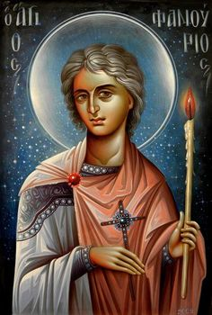 Saint Phanourios the Great Martyr and Newly-Revealed of Rhodes Religious Images, Religious Icons, Religious Art, Byzantine Icons, Byzantine Art, Faith Of Our Fathers, Greek Icons, Religious Paintings, Orthodox Icons