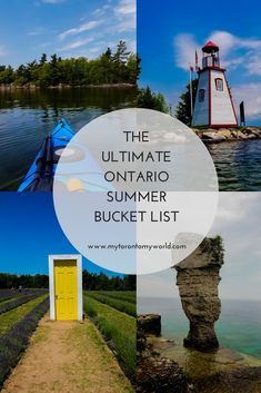 summer bucket list Tons of Things to do in Ontario - bucketlist Places To Travel, Travel Destinations, Places To Visit, Carpe Diem, Things To Do Camping, Voyage Canada, Ontario Travel, Toronto Travel, Canadian Travel