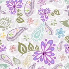 beautiful purple flower pattern background vector