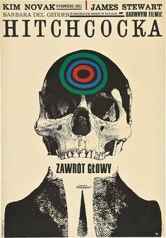 Vertigo; 1958 —Alfred Hitchcock Polish Film Poster