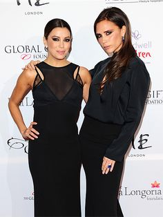 Star Tracks: Wednesday, November 20, 2013 | BACK TO BLACK | Two of the most stylish best friends around, Eva Longoria and Victoria Beckham, are arm-in-arm for the Global Gift Gala in London on Tuesday, where they were both dressed to impress thanks to Beckham's savvy styling.
