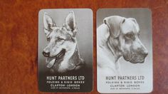 Set of 2 Single Swap/Playing Cards - Vintage Hunt Partners Advertising Dogs