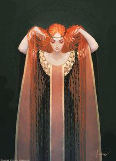Ariadne. Art by JanainaArt on DeviantArt. Greek Mythology