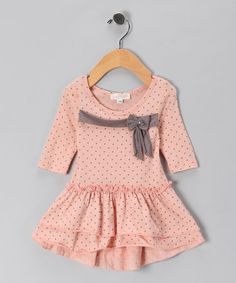 Take a look at this Dusty Pink Bow Skirted Tunic - Toddler & Girls by Baby Sara on #zulily today!