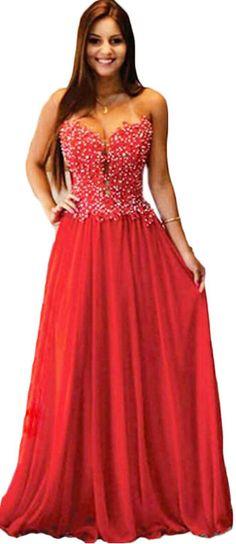 Long Elegant Red Prom Dresses, Strapless Prom Dresses,Sexy Long Chiffon Evening Dresses , Formal Prom Dresses Dresses Party Evening,Formal Dresses Evening 2016 New Arrival Formal Dresses,Elegant Long Evening Dresses
