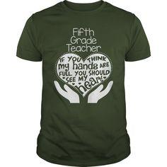 FIFTH GRADE TEACHER FULL HEART T-Shirts, Hoodies. CHECK PRICE ==► https://www.sunfrog.com/Geek-Tech/FIFTH-GRADE-TEACHER-FULL-HEART-T-SHIRTS-Forest-Guys.html?id=41382