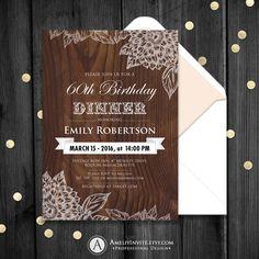 Birthday invitation adult birthday invitation by AmeliyInvite https://www.etsy.com/listing/244802071/birthday-invitation-adult-birthday