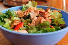 Receta de ensalada de pollo picante Get In Shape, Eating Well, Lettuce, Potato Salad, Vegan, Vegetables, Ethnic Recipes, Sweet, Fat