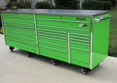 Snap on KRL1043 Extreme Green Tool Box Toolbox Stainless Steel Top We SHIP | eBay