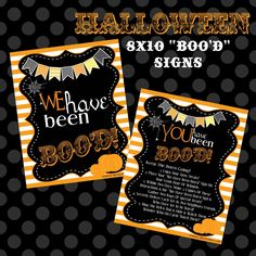 """We have been BOOed !"" : quatre designs différents disponibles sur ce post..."