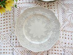 【ラ セラミカ La Ceramica】【楽ギフ_包装】 20cm レース模様が美しい!プレート 陶器 皿 Mサイズ 【マラソン201302_日用品】【RCP】【楽天市場】