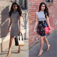 I'm wearing the same dress in both looks. Which do you guys like best?