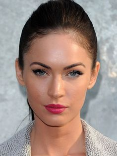 Megan Fox - Love the pink lips with her blue eyes