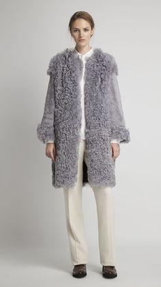 Abrigo reversible en piel de cordero