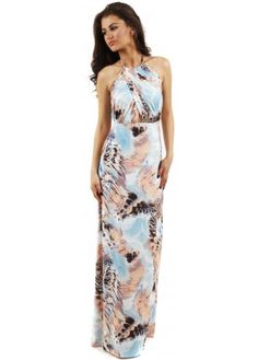 Multicoloured Print Erin Maxi Dress