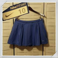 JUST IN! Nike Skort EUC Blue Nike skirt with shorts attached under. Side zip and elastic waistband adjustment. * measurements available upon request Nike Shorts