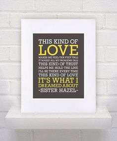 This Kind of Love  Sister Hazel Lyrics   11x14  by KeepItFancy, $10.00