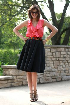 Could quasi-dupe with Express skirt and pink Gap Outlet top.