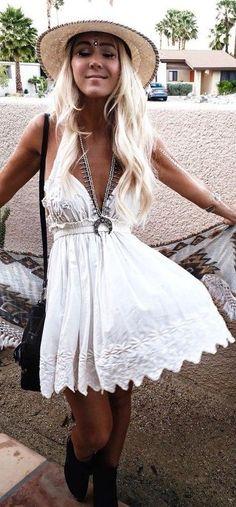 Coachella white lace little dress  GypsyLovinLight: