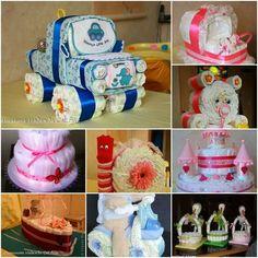 Baby diaper cake/ideas