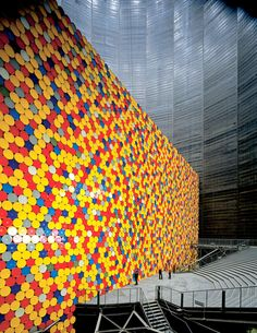 Wall of Oil Barrels - The Iron Curtain - Christo and Jeanne-Claude