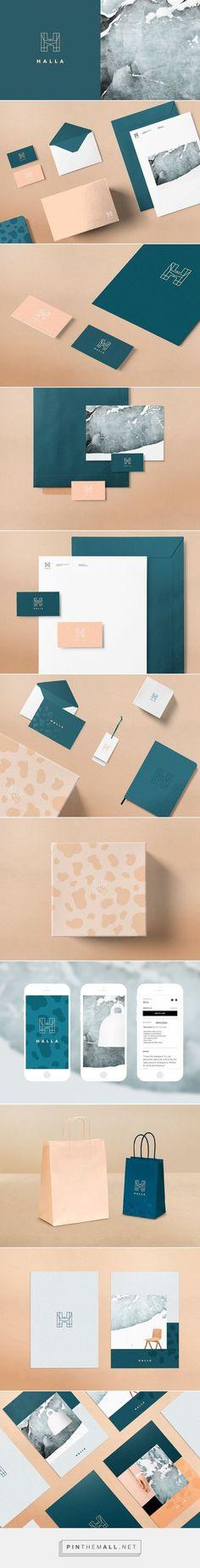 Halla Fashion and Furniture Shop branding design by Tiia Vahla. Web Design Agency, Brand Identity Design, Graphic Design Branding, Corporate Design, Corporate Branding, Brand Packaging, Packaging Design, Style Board, Web Design Mobile