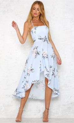 TUT OUTRO Summer Maxi Women Dress Floral Print Long Strapless Empire Party Boho Dresses Vestidos Blue High Qulity Source by Dresses floral Day Dresses, Dress Outfits, Casual Dresses, Fashion Dresses, Cute Outfits, Blue Dress Casual, Halter Outfit, Light Blue Midi Dress, Light Blue Summer Dress