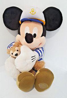 19-034-DISNEY-HIDDEN-MICKEY-MOUSE-Sailor-amp-DUFFY-Bear-Stuffed-Plush-Toy