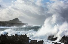 Terceira, Azores--you almost can't tell what's wave and what's cloud...