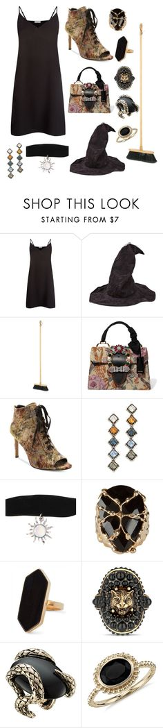 """""""D-I-Y witches costume"""" by grungebriony ❤ liked on Polyvore featuring Sandro, PERIGOT, Miu Miu, Nanette Lepore, DANNIJO, Rosantica, Jaeger, Gucci, Roberto Cavalli and Blue Nile"""