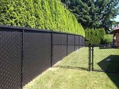 Perfect Chain Link Fence Slats Fence And Gate Ideas Installing regarding measurements 1024 X 768 Black Vinyl Fence Slats - Without proper research, you Chain Link Fence Privacy, Black Chain Link Fence, Chain Link Fence Parts, Black Fence, Privacy Fences, Privacy Screens, Green Fence, Lattice Fence, White Fence