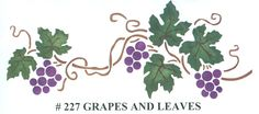 Grapes and Leaves - Click Image to Close Wine Tasting Room, New Tattoos, Grape Vines, Ottoman Ideas, Stencils, Leaves, Crafts, Craft Ideas, Image