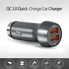 Dual USB Car Charger 48W Quick Charge 3.0 Utra-Fast 2 USB Charging Adapter Metal #CAAAACusbcharger