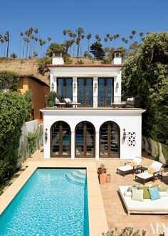 Appleton Partners LLP-Architects reimagined a Spanish-style home in Santa Monica, California. Read on for more exquisite exteriors by AD100 honorees.