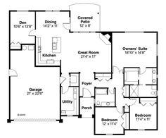Planos de casa familiar con tres dormitorios de 195m2