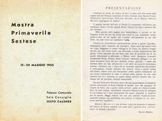 1955 Catalogo Mostra  Primaverile Sestese
