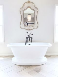 Join me as we go inside the home of Megan Manton of Sugar Color Interiors. Another edition to my Bright White Home Series. Join me as we go inside the home of Megan Manton of Sugar Color Interiors. Another edition to my Bright White Home Series. Bathroom Inspiration, Bathroom Ideas, Mirror Bathroom, Bathroom Inspo, Washroom, Bath Ideas, Bathroom Designs, Bathroom Stuff, Master Bathroom