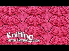 How to knit the Parasol stitch. I think this lace would look so cute on the front of a sweater. Follow along and see how easy it is to knit. ++ For detailed ...
