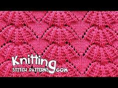 Parasol stitch | Lace Knitting #15 - YouTube