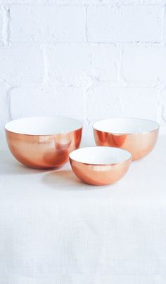 Copper and Enamel Nesting Bowls