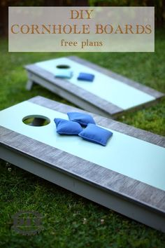 Free step by step plans with printable PDF of how to build a DIY cornhole boards. Simple build using basic tools and lots of fun. Diy Furniture Plans, Diy Furniture Projects, Woodworking Projects Diy, Woodworking Plans, Diy Projects, Diy Cornhole Boards, Cornhole Set, Crafts For Teens To Make, Diy And Crafts