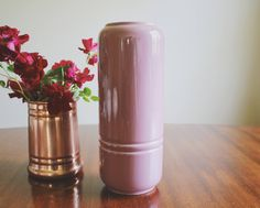 A personal favorite from my Etsy shop https://www.etsy.com/listing/537861531/blush-pink-flower-vase-boho-decor-large