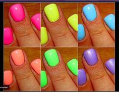 neon nails.