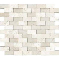 anatolia honed cubics ivory travertine mosaics 1 inch x 2 inches 76 backsplash tilebacksplash - Backsplash Tile Home Depot 2