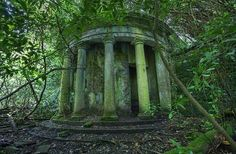 Abandoned garden folly.