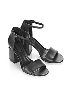ALEXANDER WANG ABBY SANDAL WITH RHODIUM  Heels Adult 12_n_r