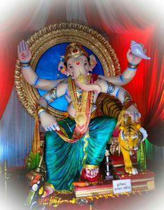 Shri Ganesh Images, Ganesh Chaturthi Images, Ganesha Pictures, Clay Ganesha, Lord Ganesha, Ganesh Wallpaper, Shree Ganesh, Ganpati Bappa, Kids Room Art